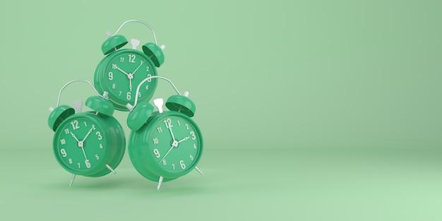 緑の目覚まし時計