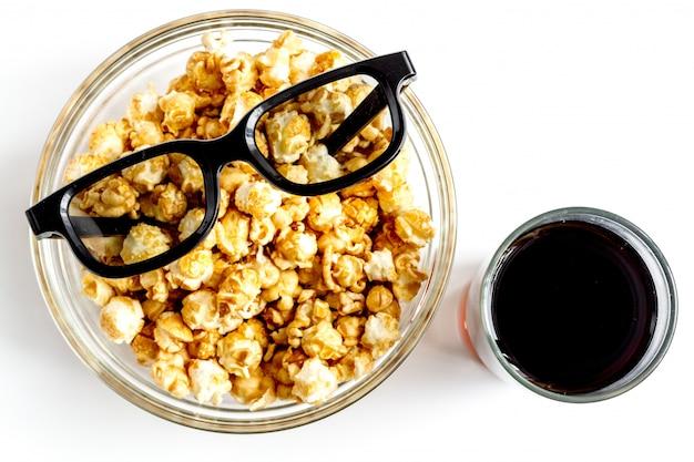 ポップコーンで映画を見るの概念