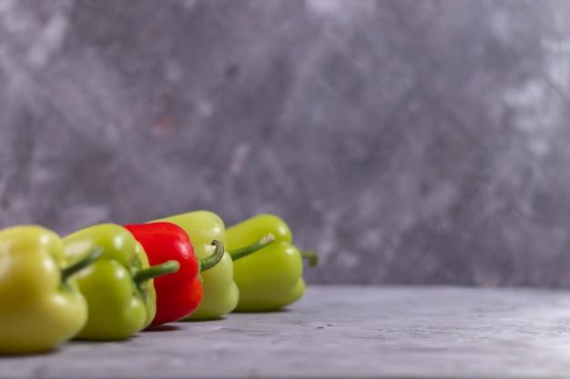 緑と赤ピーマンの視点