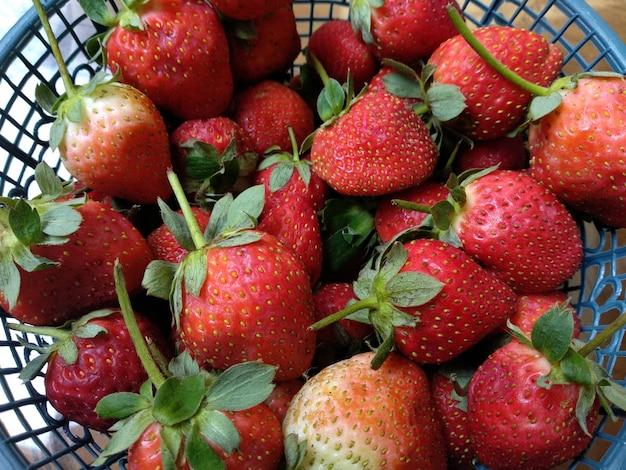 新鮮なイチゴの背景