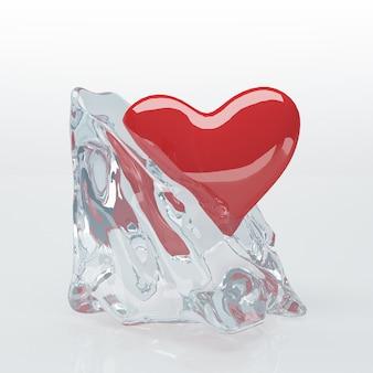 Сердце в кубике льда