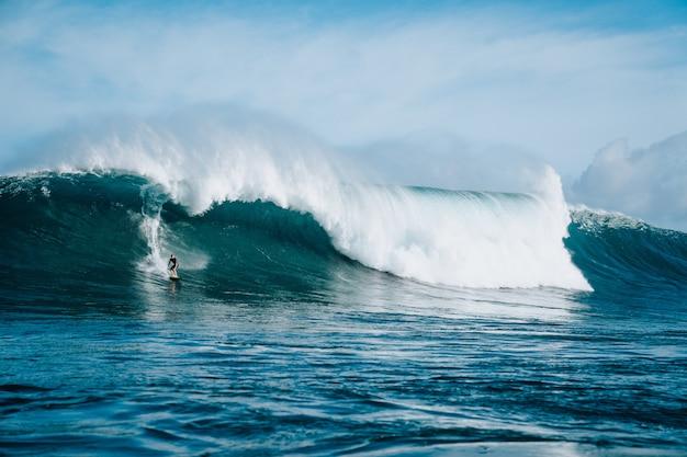 海の波のサーファー