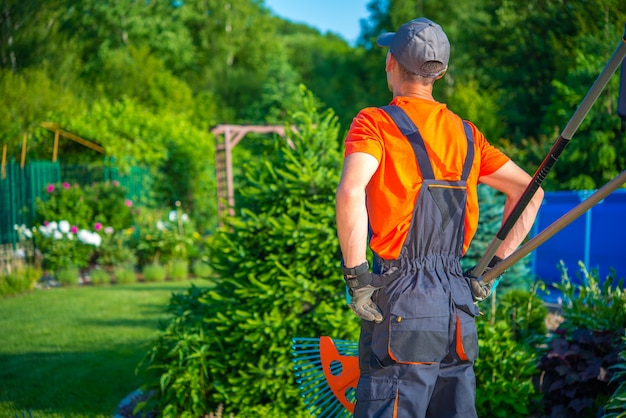 農家の庭師