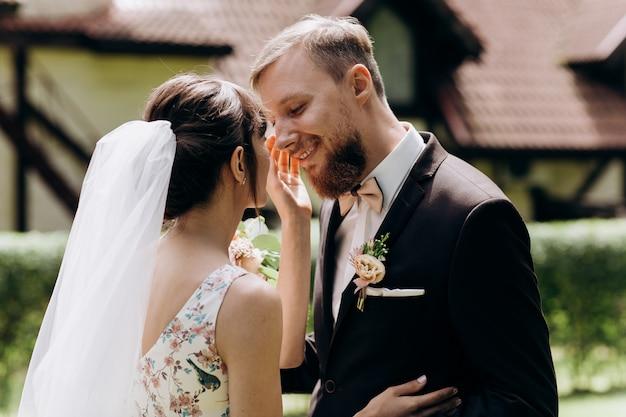 結婚式の日に新郎新婦の最初の会議