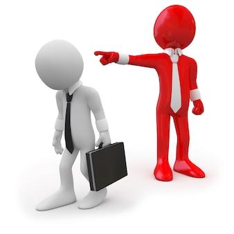 Босс увольняет сотрудника