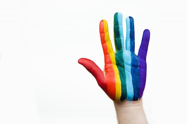 虹色の旗として手描き