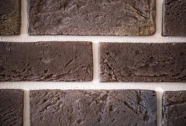 レンガの壁のクローズアップ