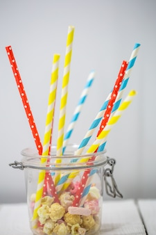Цветные соломинки для напитков