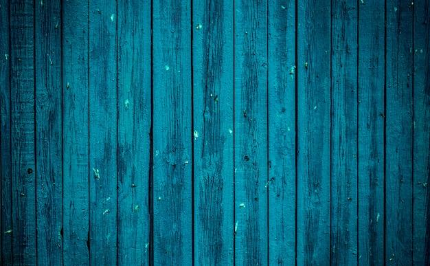 古い青い木の板。美しい背景。