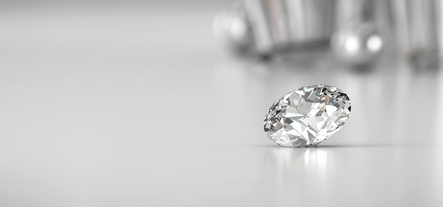 Блестящий бриллиант на градиентном фоне