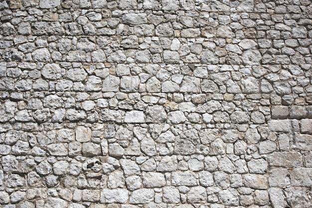 Фрагмент стены замка из камня