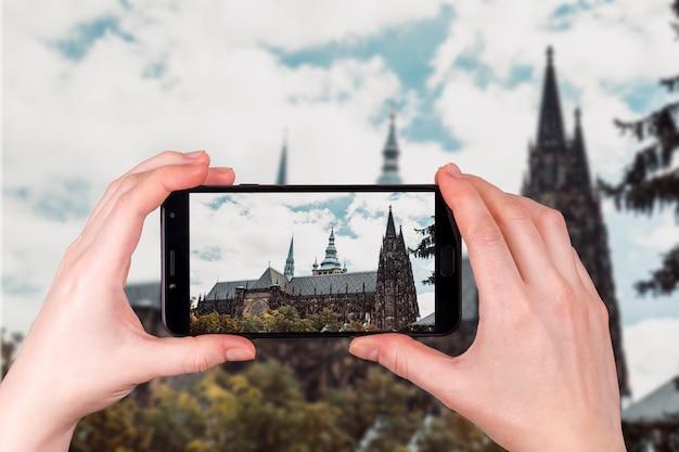 Собор святого вита в праге чешская республика. изображение телефона