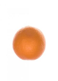 白で分離された新鮮なオレンジ色の果物