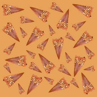 Разные кусочки чизкейка