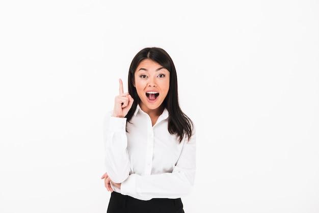 幸せなアジア女性実業家の肖像画