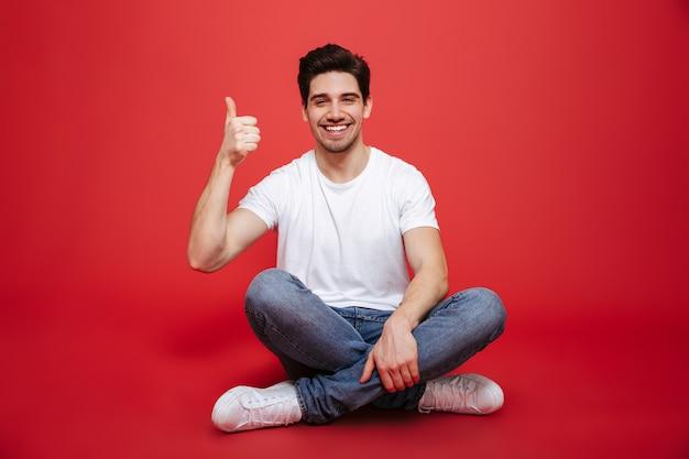 幸せな若い男の肖像