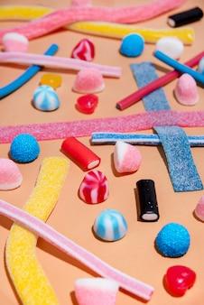 Смешанные разноцветные конфеты желе