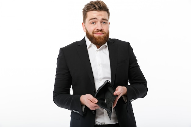 Путать бородатый деловой человек с пустой кошелек