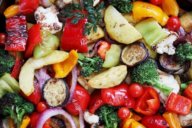 野菜シチュー、上面図