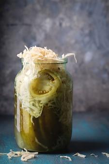 Салат ферментированный в баночке