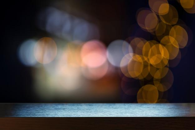 抽象的な背景を持つテーブルトップ