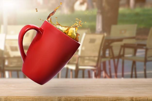 こぼれたコーヒー