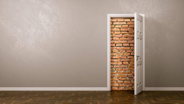 ドアの後ろの壁