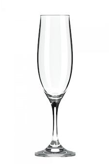 空のシャンパンフルートグラス