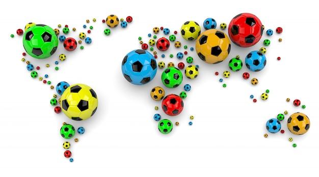 サッカーボールの世界地図