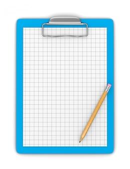 Буфер обмена с карандашом и пустой диаграммой