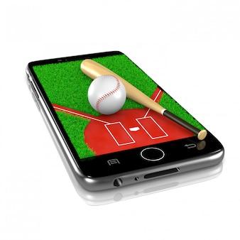 スマートフォンで野球、スポーツアプリ
