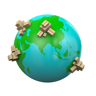 Иллюстрация доставки по всему миру