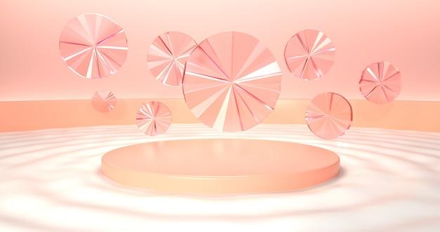 抽象的なカラフルな幾何学的形状の画像レンダリング。
