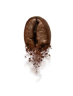 コーヒー豆の爆発のクローズアップ