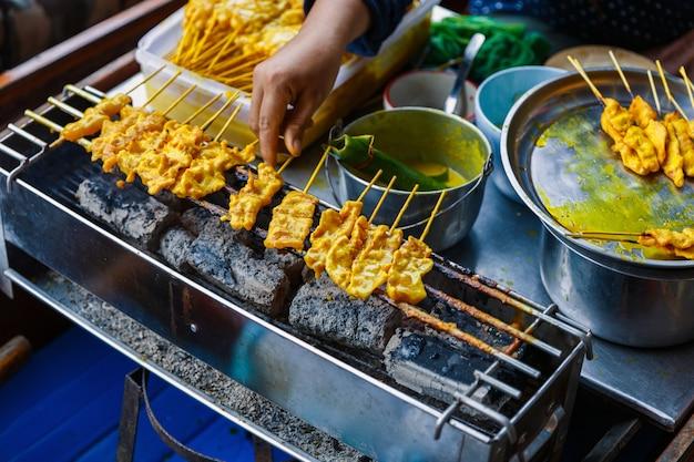 Традиционная тайская стейк жареная свинина