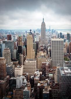 ニューヨーク市マンハッタンミッドタウン空撮
