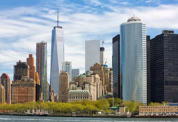 ニューヨークのマンハッタンのスカイライン