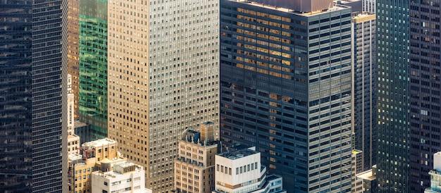 ニューヨークの街並みの鳥瞰図