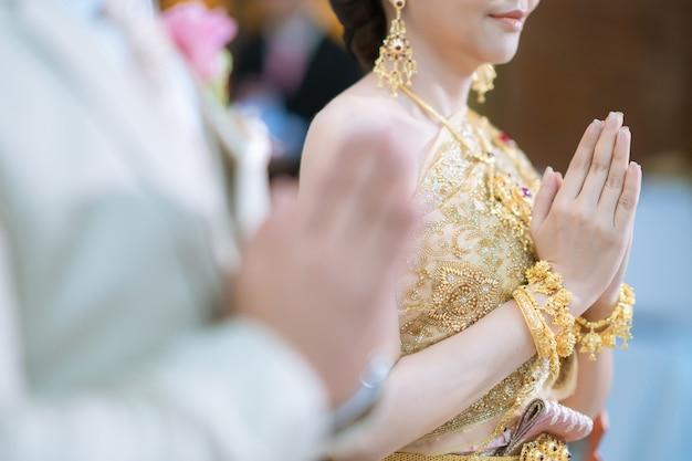 アートワークデザインのためのタイの結婚式の伝統文化