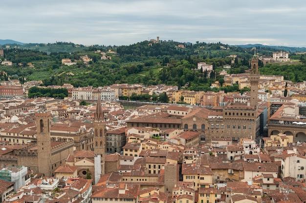 ドゥオーモの屋根の上からフィレンツェのパノラマビュー