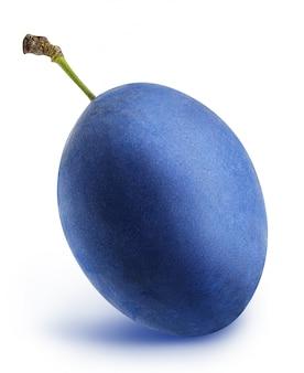 分離された青い梅