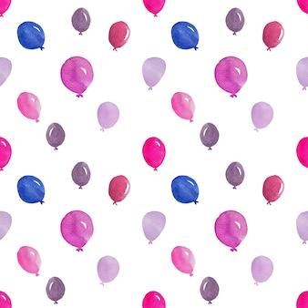 Акварельные воздушные шары в бесшовные