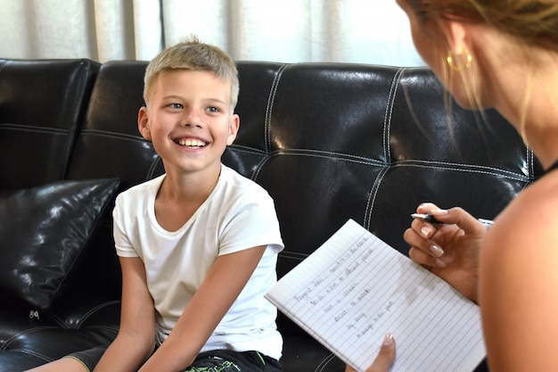 子供の少年のテスト。