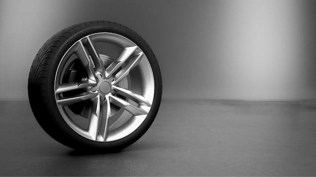Автомобильные колеса на белом