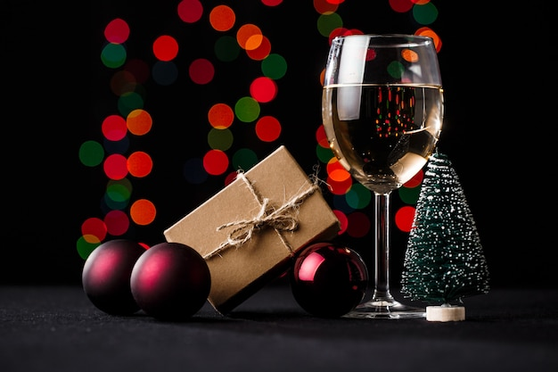 Рождественские украшения. размытые огни