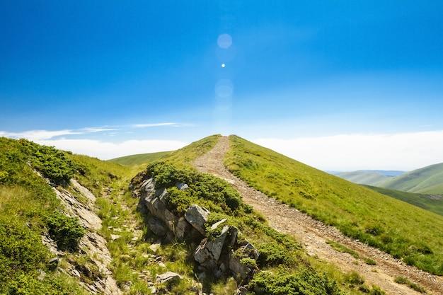 ウクライナのカルパティア山脈の素晴らしい風景。