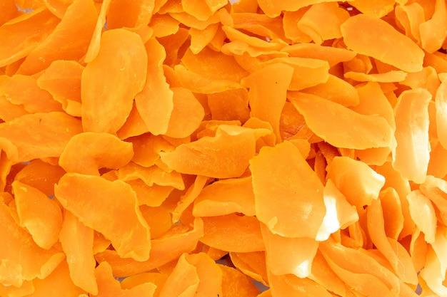 乾燥したオレンジ色の果物の表面