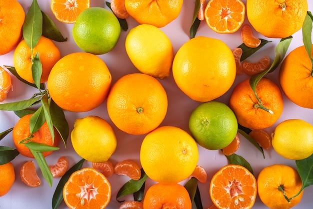 柑橘系の果物のトップビュー