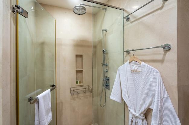 Дизайн интерьера виллы, дома, дома, квартиры и квартиры с ванной, туалетом, душем и раковиной