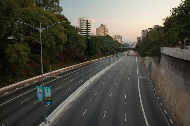 サンパウロの空の通り-ブラジル